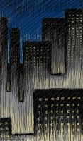 Rainy City at Night by JimHubel