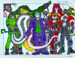 Batman Rogues Gallery by AnthroLoverJay