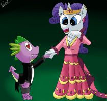 Rarity and Spike: ask her for the Dance Spike by gino456