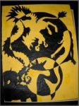 HS Art Class-Contrast Fantasy Creatures, Yellow, B by Gina605