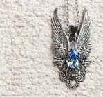 Dark Angel Pendant in Aquamarine by Aranwen