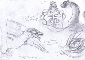 Smaug sketches by Alice4444DM