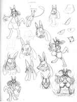 Lucario study by Creamy423
