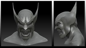 Wolverine Bust by snakes23