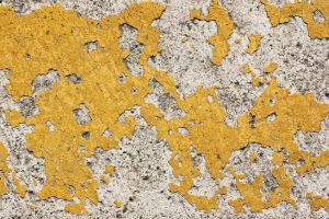 Chipped Yellow Paint Concrete by texturejunky