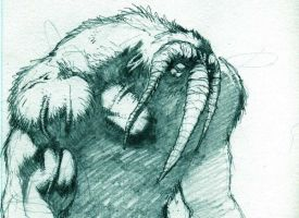 MAN-THING sketch by saltares