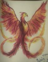 Phoenix Painting by Sethrine