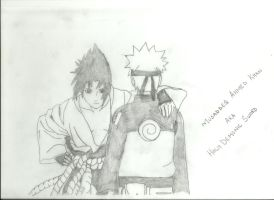 Sasuke and Naruto by Holydsword