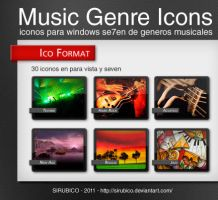 Genres Music Icons by sirubico