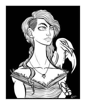 Sorceress Leraci - Inks by heidel
