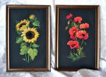 Sunflowers and poppies on the black by Alenkamouse