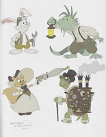 Steampunk-Themed Characters by SharpDressedReptile