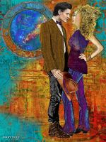 River Song and the Doctor - Hello Sweetie by evisionarts