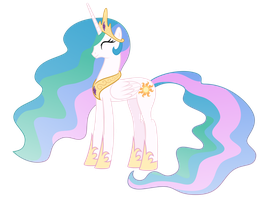Happy Celestia by flamevulture17