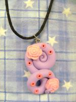 Lavender Swirly Necklace by Lord-Ackbar