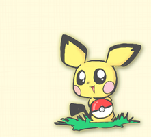 Pokeball Pichu by Panda-In-A-Box
