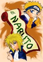 Naruto and the 4th Hokage by pinky-pink
