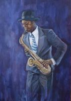 Saxophone player by PetraLAAI