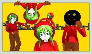 [MMD] Matryoshka Gumi Model (with stage and mask) by CrafterBazimon
