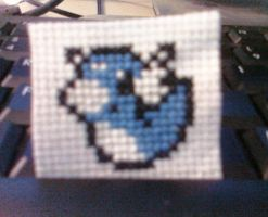 147 Dratini Cross Stitch by Pansymanic