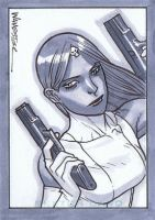 Mystique SketchCard by jeffwamester