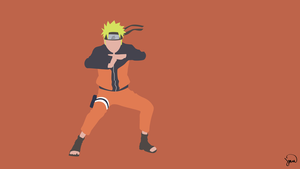 Naruto Minimalist Wallpaper by greenmapple17