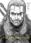 Geralt of Rivia in The Witcher 3 - Wild Hunt 01 by Vladsnake