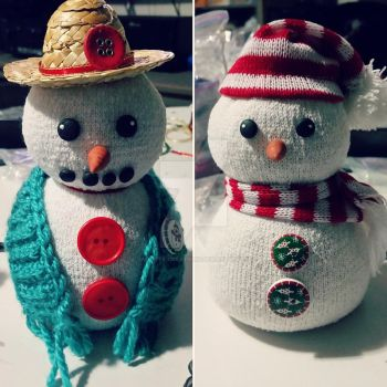 Granny and Sonny snowman by Jade-Eye-Creations