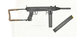 9mm Madsen M50 Submachine Gun by stopsigndrawer81