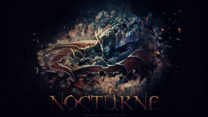LEAGUE OF LEGENDS - Nocturne Wallpaper by Enttei