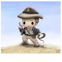 Chibi Indy -ana Jones by capsicum