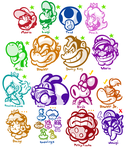 My NEW Mario Acceptance Chart by JamesmanTheRegenold