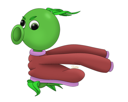 Peashooter in a Sweater by FlimsyCone