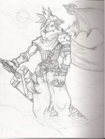 Cloud Strife -Kingdom Hearts- by crappy3D