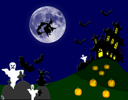 Halloween Background by liongirl2289