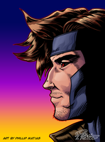 X-Men's Gambit [colored] by BW-Straybullet
