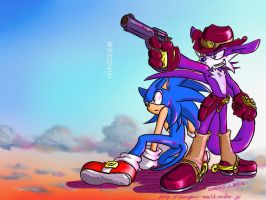 Fang and Sonic wall paper by shanghairuby