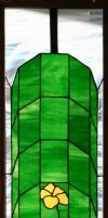 Hanging Flower Stained Glass 2 by CarolynYM