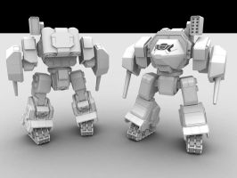 W.i.P2: Assault Mech by AceDarkfire