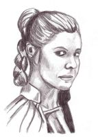 Princess Leia drawing by JediSeeker1