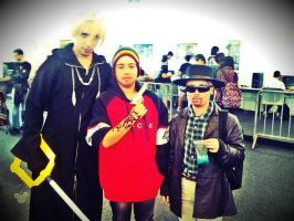 BREAKING BAD COSPLAY 08- Roxas with Jesse and Walt by KHAqua