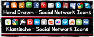 social network icons by Toucher958