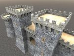 3dsmax low poly castle by butisit