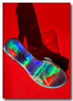 Clear Shoe on Red by robgbob