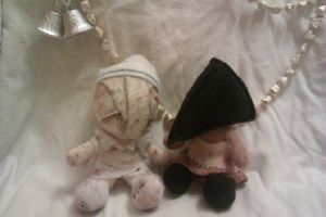 Silent Hill 2 - Nurse and Pyramid plushies by AliceOfTheRose