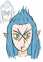 Saix with a strange drawing style by OswaldLunaire