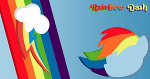 Rainbow Dash Minimalistic wallpaper by TomA62975