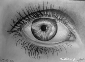 My eye by rosaliekrijl