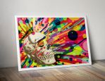 Skullor Psychedelic Skull Print by roberlan