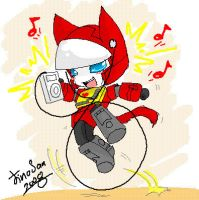 Kitty Blaster with iPod by JinoSan